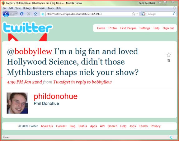 tweeting bobbyllew