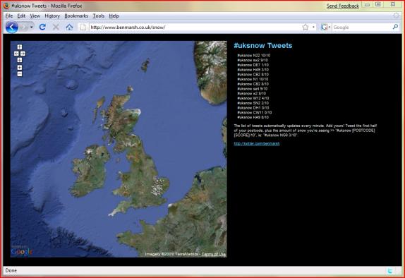 Ben Marsh's #uksnow tweet map